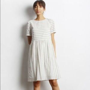 MOD REF Billy Dress White and Black Striped